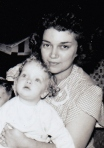 Mom (24) and me (1) in 1953