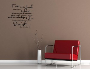 Trust in the Lord @ www.vinyl-wall-decals.com