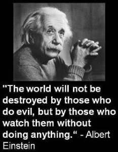 Einstein quote - those how watch and do nothing