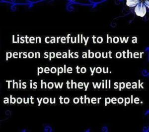 Listen carefully