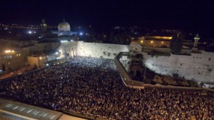 Yom Kippur 5774 (September 13-14, 2013) in Jerusalem at the Western Wall