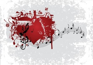 heart and musical notes