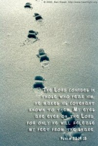 Psalm 25v14-15