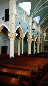 Inside the sanctuary looking toward the back area