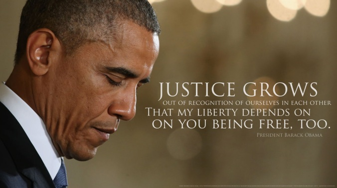 Obama quote on liberty and justice
